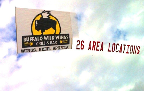 Buffalo Wings Airplane Banner