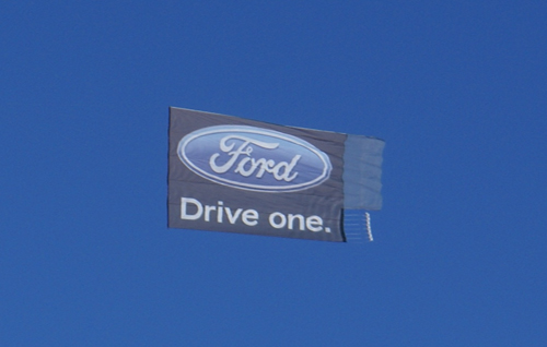 Ford Airplane Banner