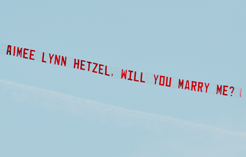 Marry Me Airplane Banner