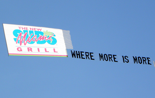 Miami Grill Airplane Banner